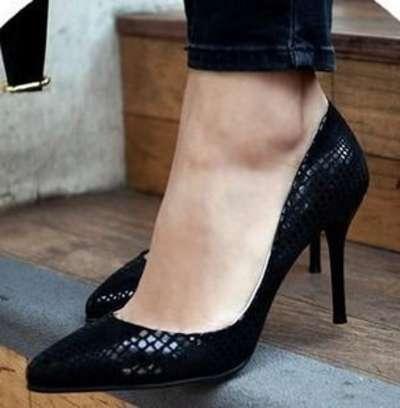 秋季新款欧美黑色尖头高跟鞋 细跟性感夜店女 浅口职业ol单鞋工鞋