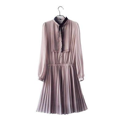 连衣裙 长裙 雪纺