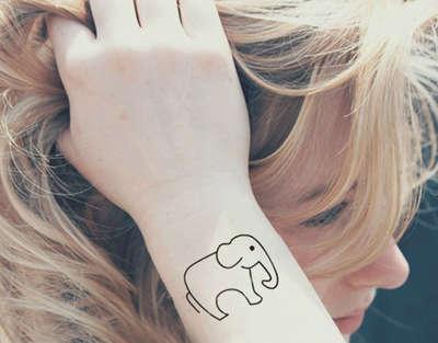 可爱的小象 简单画笔 超有范儿  贴哪里都不错哦~  欧美 潮款 豹子头