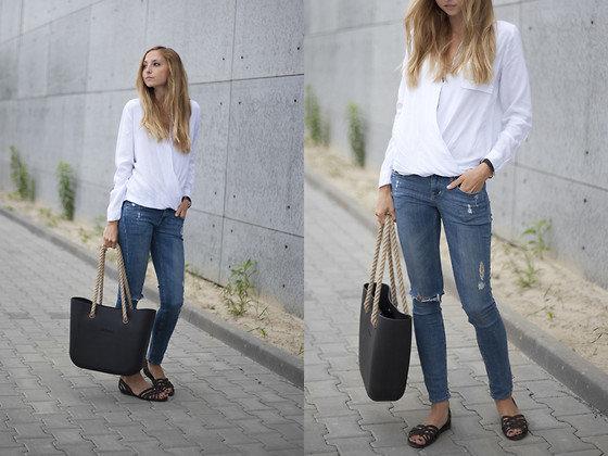 + h&m牛仔裤