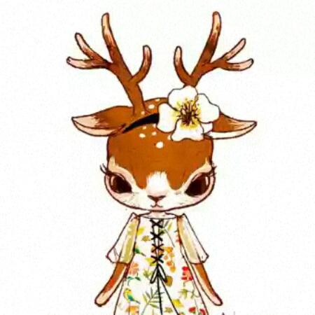 森林麋鹿唯美图片卡通
